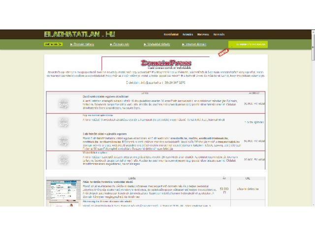 Eladó domain nevek és weboldalak akciósan!