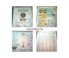 2 db,régi iskolai atlasz