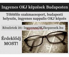 Nappali és esti tagozatos ingyenes OKJ képzések Budapesten