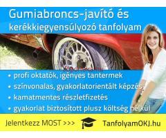 Gumiabroncs-javító és kerékkiegyensúlyozó OKJ-s tanfolyam Budapesten