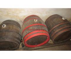 FERMETH szőlőprés, tölgyfahordók