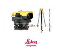 Leica akciós optikai szintező szettek állvánnyal és léccel