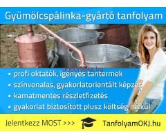 Gyümölcspálinka-gyártó OKJ-s tanfolyam Budapesten