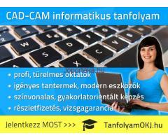 CAD-CAM informatikus OKJ-s tanfolyam Budapesten