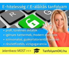 E-HITELESSÉG / E-ALÁÍRÁS tanfolyam Budapesten