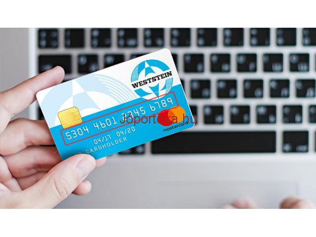 Bankkártya továbbajánláshoz munkatársakat keresek