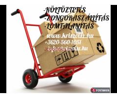 KÖLTÖZTETÉS KORREKT ÁRAKKAL! www.kriszvisz.hu