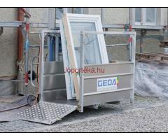 GEDA oszlopos teher- és személyfelvonó eladó