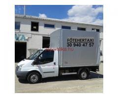 FŐ TEHERTAXI, teherfuvarozás kisteherautóval, költöztető platós furgon Budapest, Pest megye, belföld
