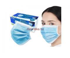 Egészségügyi Orvosi Szájmaszk 3 rétegű kék színben 10db/csomag
