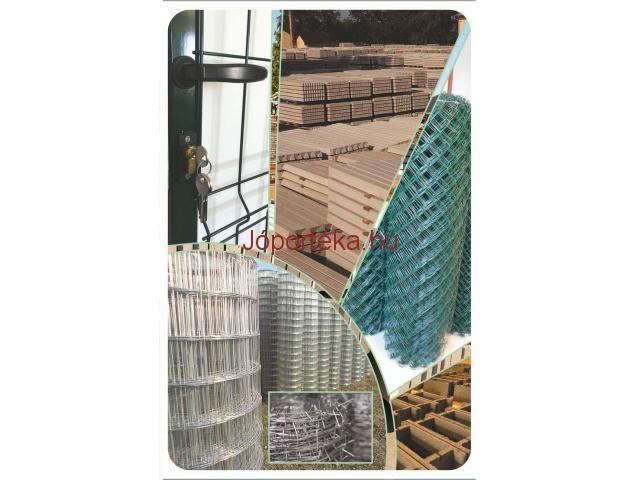 Vadkerítés drótfonat vadháló drótkerítés tüskésdrót kerítés építés huzal oszlop betonoszlop