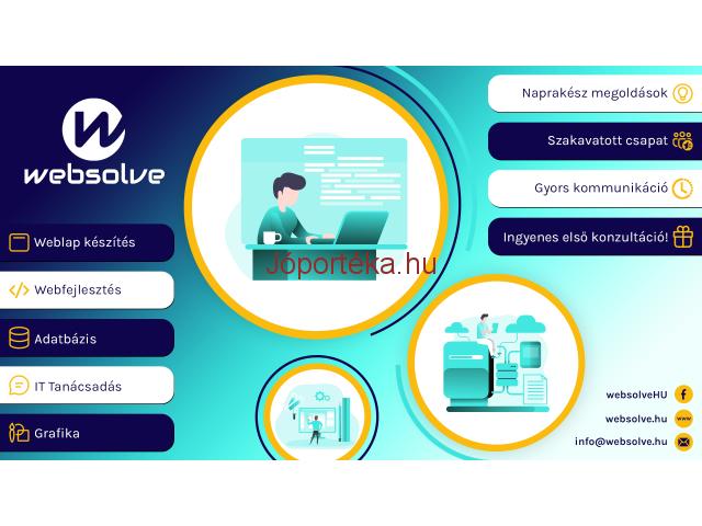 Weblap készítés   Webfejlesztés   Adatbázis   IT tanácsadás   Grafika
