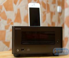 Onkyo cs-245 mikro hifi torony barna iphone dokkolóval