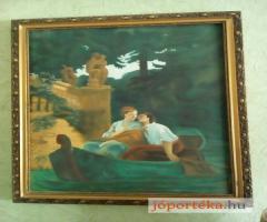 Csónakázó  szerelmesek! xix-xx sz-i, székely bertalan ,festmény másolat eladó